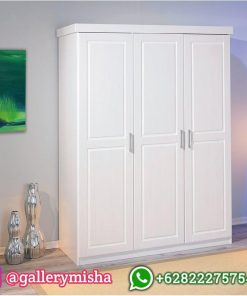 Lemari Pakaian Pintu 3 Minimalis Cat Duco